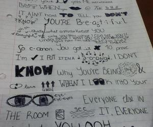 lyric drawings, wmyb, and one direction image