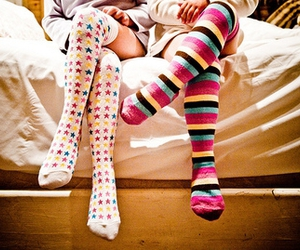 socks, girl, and stars image