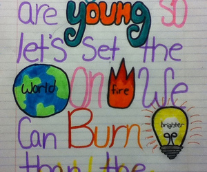 fire, fun, and markers image