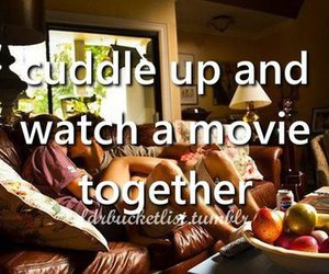 couple, movie, and together image