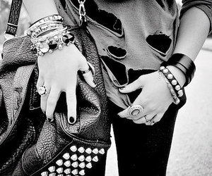 fashion, black and white, and black image