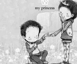love, boy, and princess image