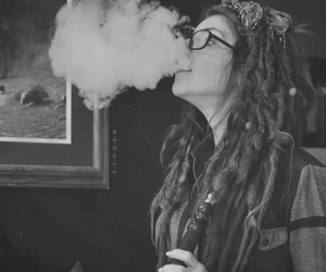 girl, smoke, and dreads image