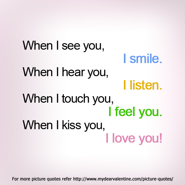 When I see you | Picture Quotes | Mydearvalentine.com
