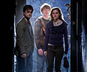 deathly hallows, harry potter, and hermione image