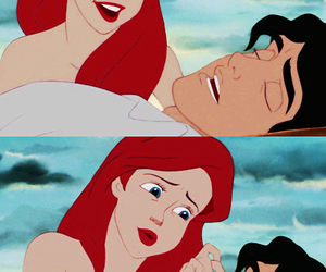 ariel, the little mermaid, and eric image