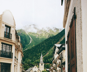 mountains, city, and europe image