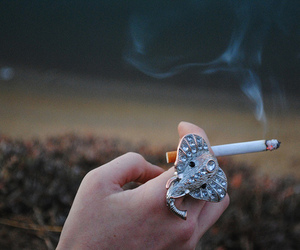 cigarette, fashion, and ring image
