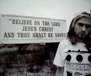 kurt cobain, nirvana, and jesus image