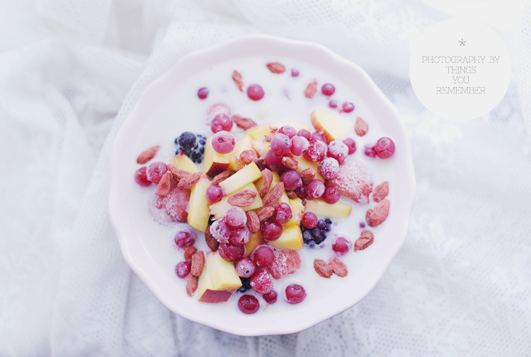 berries, milk, and morning image