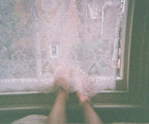 window, feet, and vintage image