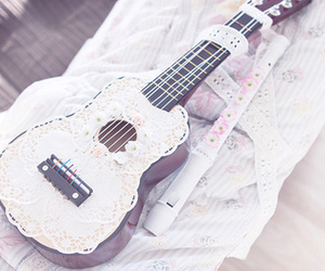 guitar, music, and lace image