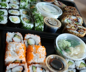 food, sushi, and eat image