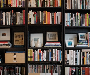 books, shelf, and collection image