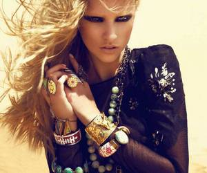 model, fashion, and blonde image