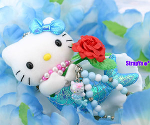 blue, hello kitty, and cute image