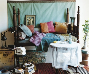 bed, interiors, and bedroom image