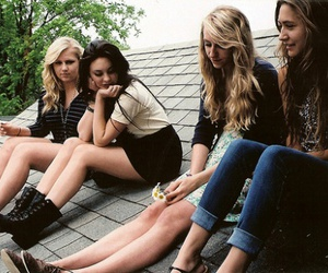 girl, friends, and roof image