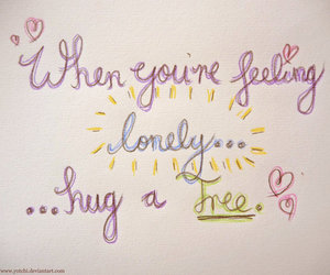 hug, lonely, and text image