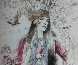 Apache, art, and drawing image