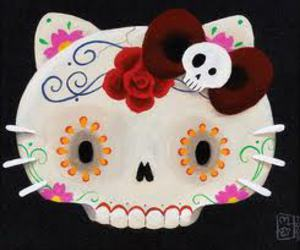 candy skull, colorful, and tattoo image