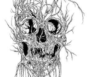 skull, alex pardee, and art image
