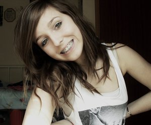 bedroom, braces, and girl image