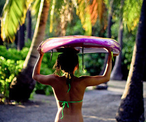 hawaii, tropical, and surfer image
