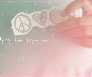 happiness, peace, and quote image