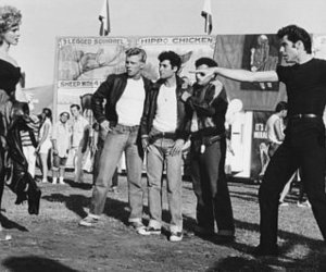 black and white and grease image