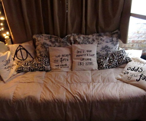 harry potter, bed, and room image