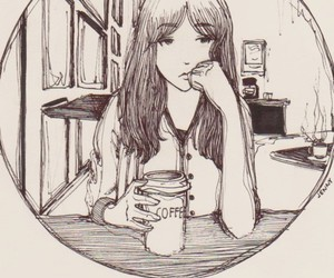 nothing, drawing, and coffee image