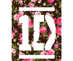 one direction, 1d, and flowers image