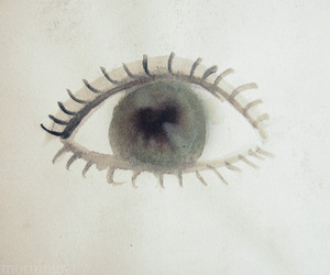 anxious, eye, and watercolor image
