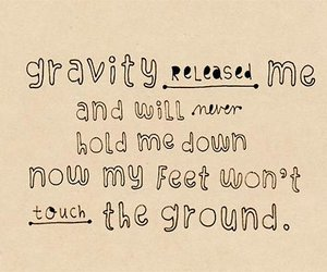 text, coldplay, and gravity image