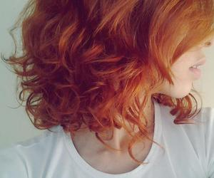 curly, ginger, and girl image