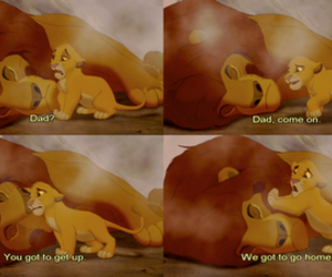 alone, lion king, and dad and son image
