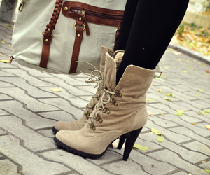 autumn, fall, and heels image