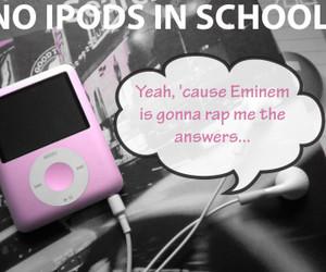 ipod, music, and school image
