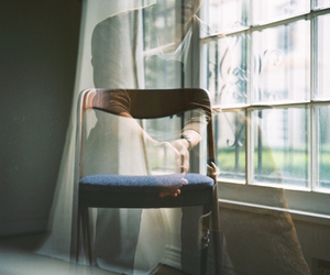 chair, vintage, and window image