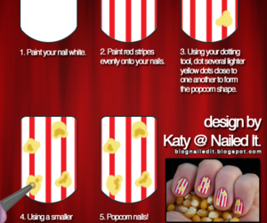 nails, tutorial, and popcorn image