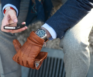 fashion, man, and gloves image