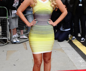 blonde, yellow, and dress image