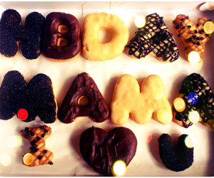 birthday, donuts, and food image