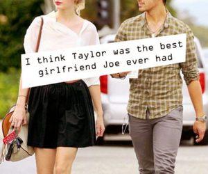 Joe Jonas, never, and Taylor Swift image