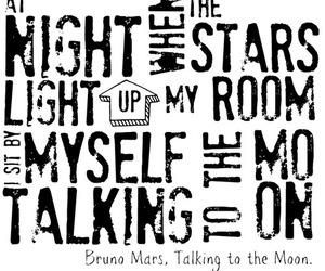 Lyrics, moon, and music image