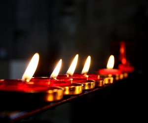 candle, church, and fire image