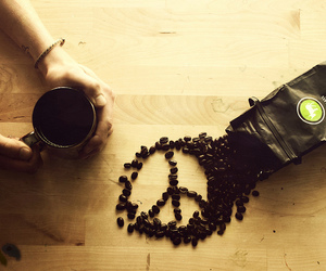 peace, coffee, and drink image