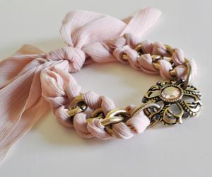 bracelet, pink, and pastel image