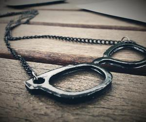 glasses, jewelry, and necklace image